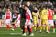 Arsenal Forward Alexis Sánchez with a selfie with fans during the The FA Cup match between Sutton United and Arsenal at Gander Green Lane, Sutton, United Kingdom on 20 February 2017. Photo by Phil Duncan.