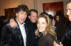 Left to right, LANCE TILBURY, JULIAN OZANNE and his fiance actress GILLIAN ANDERSON at an exhibition of recent work by artist Lance Tilbury held at the Old Imperial Laundry, Warriner Gardens, Battersea, London on 7th December 2004.<br /><br />NON EXCLUSIVE - WORLD RIGHTS