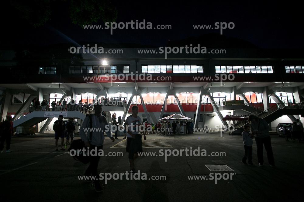 View of arena during ice hockey match between HDD SIJ Acroni Jesenice and HDD Telemach Olimpija, on August 29 in Dvorana Podmezaklja, Jesenice, Slovenia. Photo by Matic Klansek Velej / Sportida