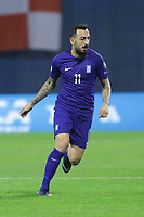 ZAGREB, CROATIA - NOVEMBER 09:  Kostas Mitroglou of Greece runs during the FIFA 2018 World Cup Qualifier play-off first leg match between Croatia and Greece at Maksimir Stadium on November 9, 2017 in Zagreb, Croatia. (Luka Stanzl/PIXSELL)