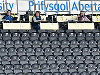 Football - 2019 / 2020 Championship - Swansea City vs Sheffield Wednesday<br /> <br /> media in an otherwise empty stand<br /> in a match played with no crowd due to Covid 19 coronavirus emergency regulations, at the almost empty Liberty Stadium.<br /> <br /> COLORSPORT/WINSTON BYNORTH