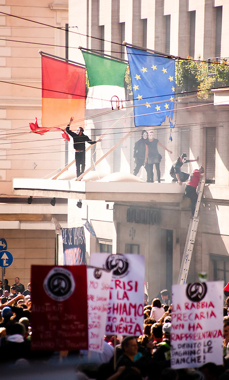 15 OCT 2011 - Roma -  Manifestazione Globale dei Cittadini - United for Global Change - Indignados