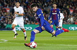 November 29, 2017 - Barcelona, Catalonia, Spain - Jose Manuel Arnaiz scores during the Copa del Rey match between FC Barcelona v Real Murcia CF,i n Barcelona, on November 29, 2017. (Credit Image: © Joan Valls/NurPhoto via ZUMA Press)
