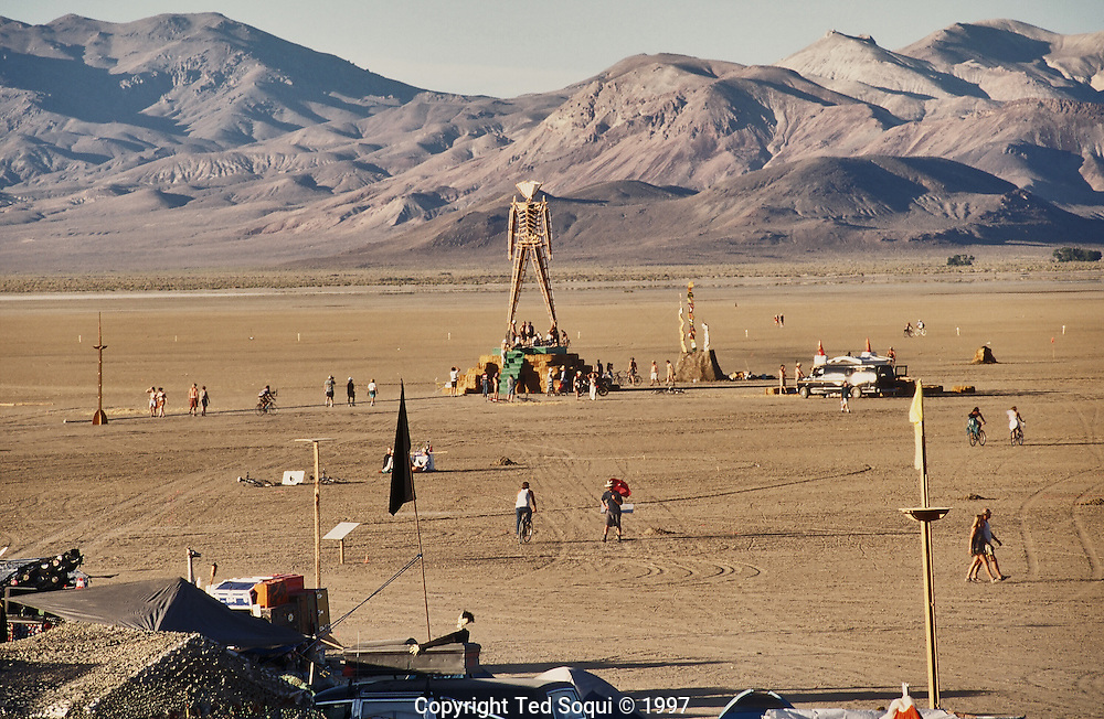 The Burningman festival on the playa near Black Rock in NE Nevada.