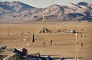 The Burningman festival on the playa near Black Rock in NE Nevada.