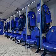 Roma 04/02/2018 Stadio Olimpico<br /> Natwest 6 nations Italia vs Inghilterra<br /> Lo spogliatoio dell'Italia