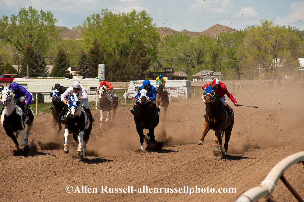 Quarter Horse Racing at Miles City, Montana