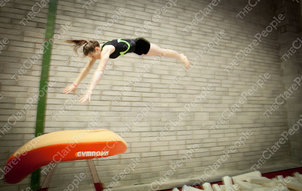 13.01.12  <br /> Ennis Gymnastics Club. Jane Taylor has made the Irish Junior Squad.<br /> . Picture: Alan Place/Press 22.