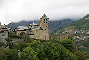 Spain, The Pyrenees Mountains Torla Church