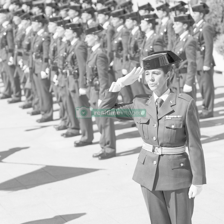 September 28, 2018 - Madrid, Spain - Women of the Civil Guard during the act of recognition of the Civil Guard woman on the occasion of the 30th anniversary of her incorporation into the Corps. 'in Madrid, Spain, 28 September 2018  (Credit Image: © Oscar Gonzalez/NurPhoto/ZUMA Press)