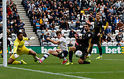 A missed chance from Josh Harrop of Preston North End  during the EFL Sky Bet Championship match between Preston North End and Millwall at Deepdale, Preston, England on 23 September 2017. Photo by Paul Thompson.