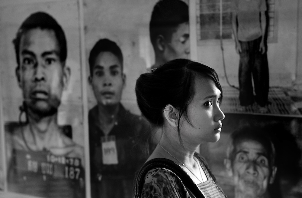 """The Tuol Sleng Genocide Museum, the former high school which was used as the notorious Security Prison 21 (S-21) by the Khmer Rouge regime from its rise to power in 1975 to its fall in 1979. Tuol Sleng (Khmer [tu?l slae?]) means """"Hill of the Poisonous Trees"""" or """"Strychnine  Hill"""""""