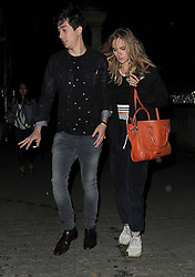 Model Suki Waterhouse and Nat Wolff leaving Hyde Park after BST: The Strokes, Hyde Park gig in London, UK. 18/06/2015<br />