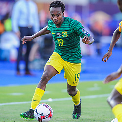Percy Tau of South Africa during the 2019 Africa Cup of Nations Finals game between Ivory Coast and South Africa at Al Salam Stadium in Cairo, Egypt on 24 June 2019  <br /> Photo : Icon Sport
