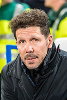 LONDON,ENGLAND - DECEMBER 05: Atletico Madrid manager Diego Simeone  during the UEFA Champions League group C match between Chelsea FC and Atletico Madrid at Stamford Bridge on December 5, 2017 in London, United Kingdom.  <br /> ( Photo by Sebastian Frej / MB Media )