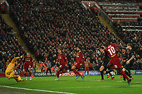 Football - 2019 / 2020 UEFA Champions League - Round of Sixteen, Second Leg: Liverpool (0) vs. Atletico Madrid (1)<br /> <br /> Atletico Madrid goalkeeper Jan Oblak saves a shot from Liverpool's Sadio Mane, at Anfield.<br /> <br /> <br /> COLORSPORT/TERRY DONNELLY