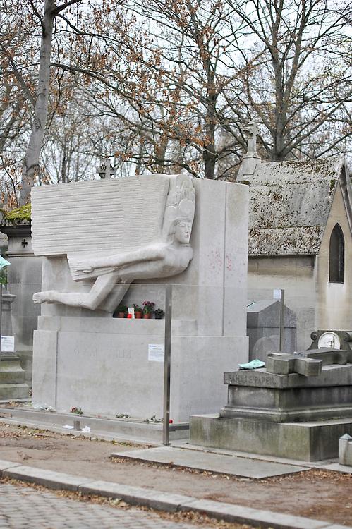 Mausoleum of Oscar Wilde, Pere Lachaise Cemetery, Paris