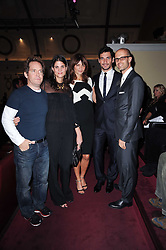 Left to right, TOM HOLLANDER, KATRINA PAVLOS, HELENA CHRISTENSEN, DAVID GANDY and EDOARDO PONTI at a screening of the short film 'Away We Stay' directed by Edoardo Ponti held at The Electric Cinema, Portobello Road, London W1 on 15th November 2010.