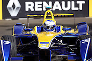 Renault E.Dams driver, Nico Prost on his way to winning during Round 9 of Formula E, Battersea Park, London, United Kingdom on 2 July 2016. Photo by Matthew Redman.