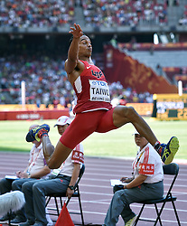 28-08-2015 CHN: IAAF World Championships Athletics day 7, Beijing<br /> Long jump decathlon / Jeremy Taiwo USA<br /> Photo by Ronald Hoogendoorn / Sportida