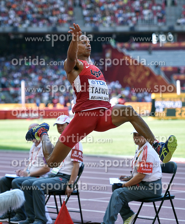28-08-2015 CHN: IAAF World Championships Athletics day 7, Beijing<br /> Long jump decathlon / Jeremy Taiwo USA<br /> Photo by Ronald Hoogendoorn / Sportida