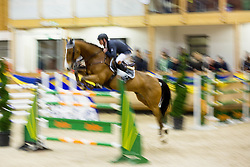 Juza Christian of Austria with his horse Never Des Etisses jumps during Equestrian competition  FEI Grand Prix World Cup Celje 2014, on November 30, 2014 in Equestrian Centre Celje, Slovenia. Photo by Vid Ponikvar / Sportida