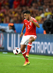 Neil Taylor of Wales  - Mandatory by-line: Joe Meredith/JMP - 01/07/2016 - FOOTBALL - Stade Pierre Mauroy - Lille, France - Wales v Belgium - UEFA European Championship quarter final