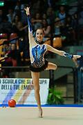 Noemi Leali atleta della Società Terranuova durante la seconda prova del Campionato Italiano di Ginnastica Ritmica.<br /> La gara si è svolta a Desio il 31 ottobre 2015.