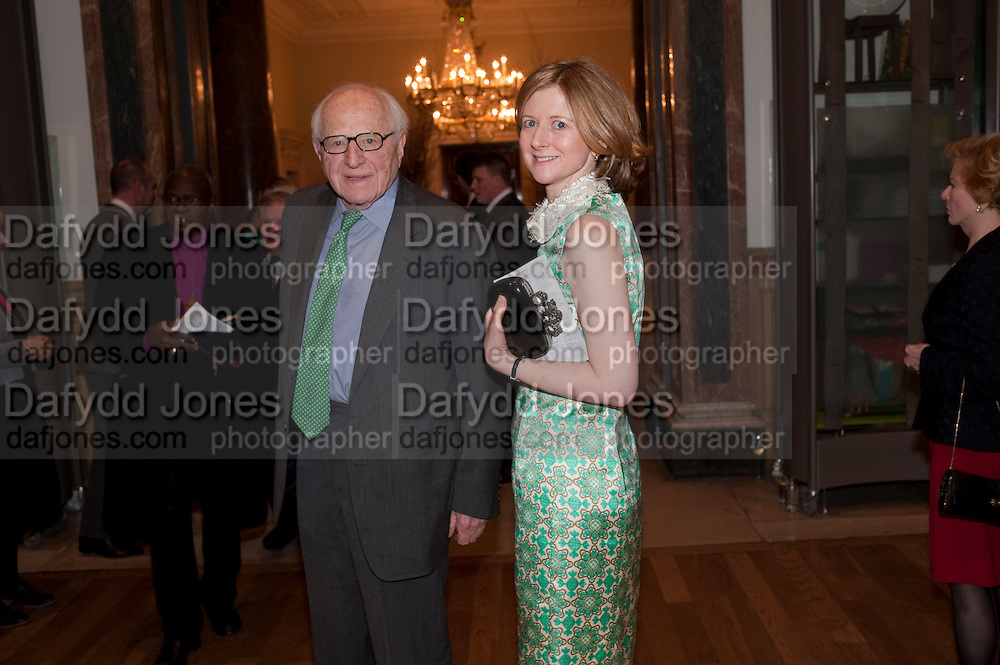 SIR RONNIE GRIERSON; FRANCES OSBORNE  Opening of David Hockney ' A Bigger Picture' Royal Academy. Piccadilly. London. 17 January 2012