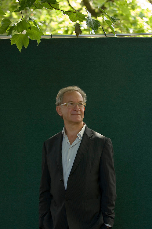 EDINBURGH, SCOTLAND - AUGUST23. Author Simon Schama poses during a portrait session held at Edinburgh Book Festival on August 23, 2006  in Edinburgh, Scotland. (Photo by Marco Secchi/Getty Images).