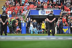 TEAMS ENTER FOR CHECKATRADE TROPHY, Coventry City v Oxford United, EFL Checkatrade Trophy Final, Wembley Stadium Sunday 2nd April 2017, <br /> Score Coventry 2-1 Oxford<br /> PhotoMike Capps