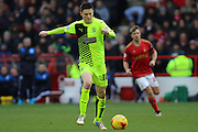 Huddersfield Town midfielder Joe Lolley makes a break from midfield during the Sky Bet Championship match between Nottingham Forest and Huddersfield Town at the City Ground, Nottingham, England on 13 February 2016. Photo by Aaron  Lupton.
