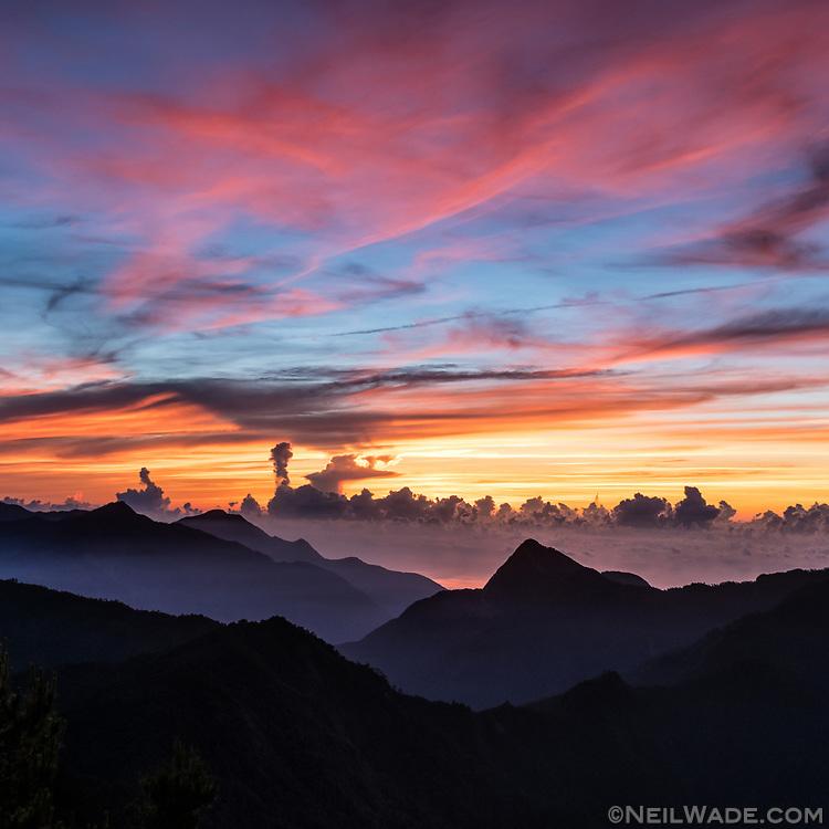 Sunrise over Taroko Gorge, Taiwan.