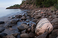 Lake Superior shoreline along Minnesota's Northshore near Duluth Minnesota.