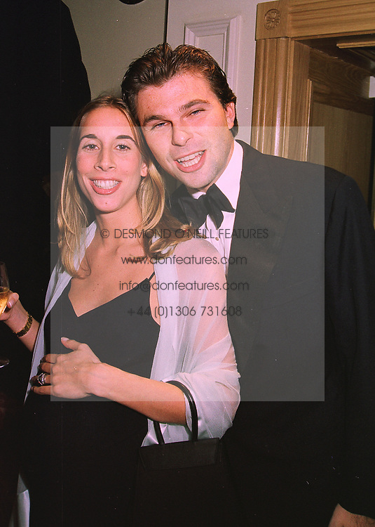 MR & MRS JONATHAN SIEFF  members of the Marks & Spencer family, at a ball in London on 20th November 1997.MDN 72