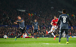 Nemanja Matic of Manchester United scores his sides first goal - Mandatory by-line: Matt McNulty/JMP - 31/10/2017 - FOOTBALL - Old Trafford - Manchester, England - Manchester United v Benfica - UEFA Champions League Group A