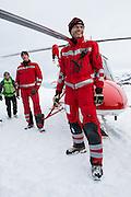 Besatzungsmitglieder Rega Rettungshelikopter