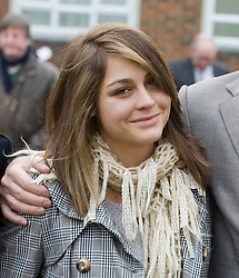 © Licensed to London News Pictures. 28/11/2011. London, UK. KATHERINE GOLDBERG leaving Isleworth Crown Court today (28/11/2011) where she received 11 months of community service and a £1,500 fine for  groping a Virgin Airways steward and demanding sexual intercourse while drunk on a flight. Photo credit : Photographers name/LNP