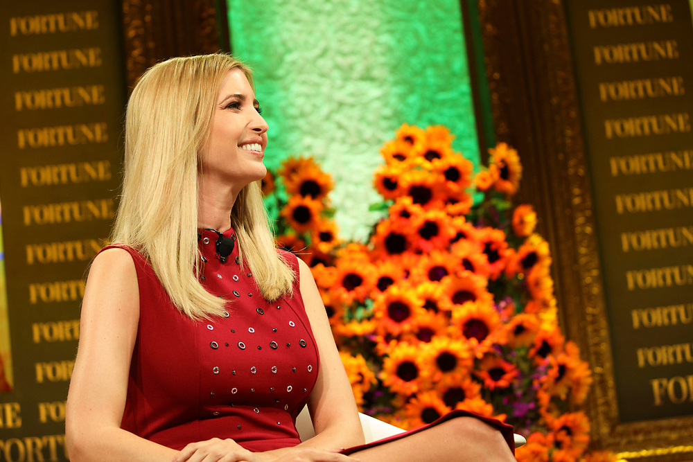 Ivanka Trump, daughter of Republican Presidential Nominee Donald Trump, smiles during the Fortune Most Powerful Women Summit in Dana Point, California, U.S., on Wednesday, October 19, 2016. The summit brings preeminent women in business and leadership together for discussions and high-level networking. © 2016 Patrick T. Fallon