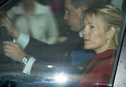 Peter and Autumn Phillips attends the Queen's Christmas lunch. Buckingham Palace, London, United Kingdom. Wednesday, 18th December 2013. Picture by i-Images