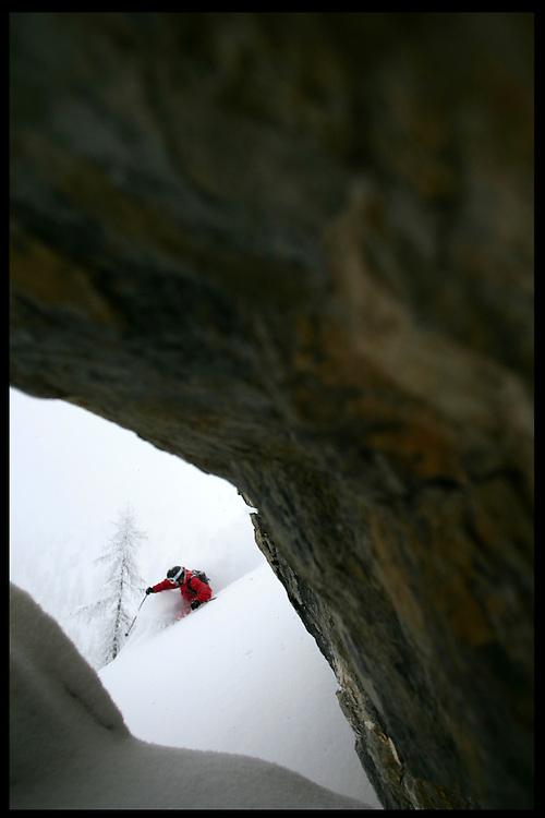 Rider: Steve Becholey.Location: Bruson (Switzerland)
