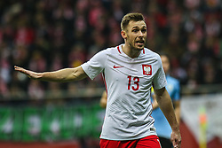 November 10, 2017 - Warsaw, Poland - Maciej Rybus (POL) in action during the international friendly match between Poland and Uruguay at National Stadium on November 10, 2017 in Warsaw, Poland. (Credit Image: © Foto Olimpik/NurPhoto via ZUMA Press)
