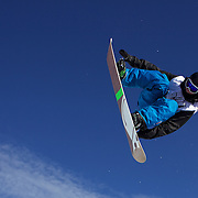 Benji Farrow, USA, in action during the Men's Half Pipe Finals at the Burton New Zealand Open 2011 held at Cardrona Alpine Resort, Wanaka, New Zealand, 13th August 2011. Photo Tim Clayton