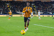 Ola Aina of Hull City during the EFL Sky Bet Championship match between Hull City and Barnsley at the KCOM Stadium, Kingston upon Hull, England on 27 February 2018. Picture by Craig Zadoroznyj.