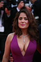 Actress Salma Hayek at the gala screening for the film Carol at the 68th Cannes Film Festival, Sunday May 17th 2015, Cannes, France.
