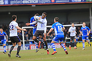 A face masked Tom Soares during the Sky Bet League 1 match between Rochdale and Bury at Spotland, Rochdale, England on 12 March 2016. Photo by Daniel Youngs.
