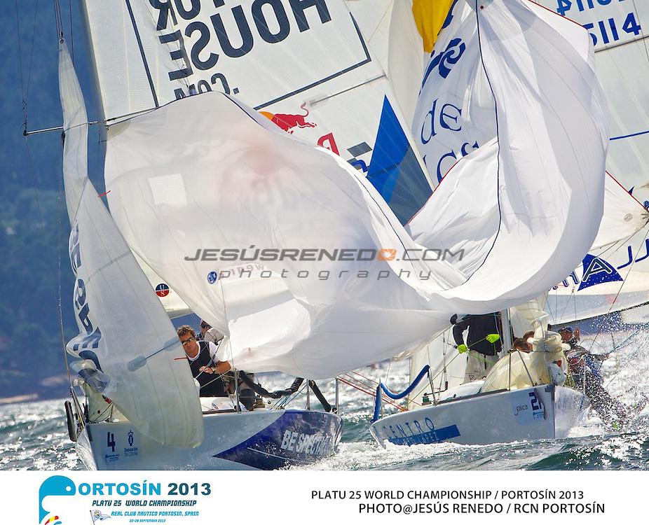 Platu 25 World Championships, Portosín , Galicia, Spain. 24-29 September 2013. Day 3 ©