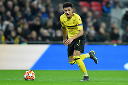 February 13, 2019 - London, England, United Kingdom - Borussia Dortmund midfielder Jadon Sancho in action during the UEFA Champions League match between Tottenham Hotspur and Ballspielverein Borussia 09 e.V. Dortmund at Wembley Stadium, London on Wednesday 13th February 2019. (Credit: Jon Bromley | MI News & Sport Ltd) (Credit Image: © Mi News/NurPhoto via ZUMA Press)