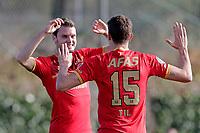 *Thomas Ouwejan* of AZ Alkmaar, scores the first goal to make it 1-0,, *Guus Til* of AZ Alkmaar,