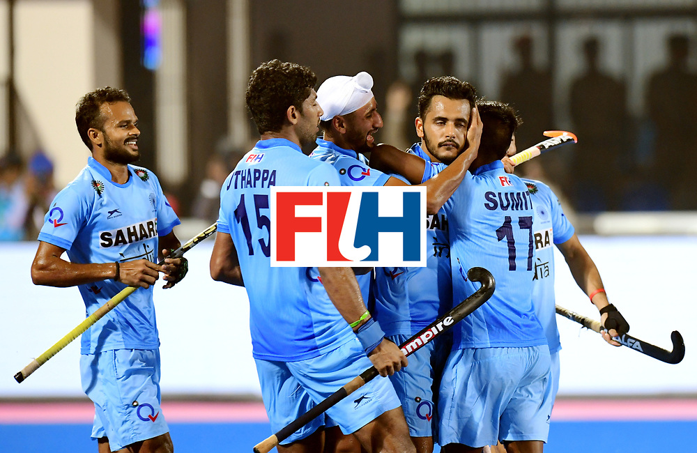 Odisha Men's Hockey World League Final Bhubaneswar 2017<br /> Match id:21<br /> India v Germany<br /> Foto: Harmanpreet Singh (Ind) scored 2-1<br /> COPYRIGHT WORLDSPORTPICS FRANK UIJLENBROEK